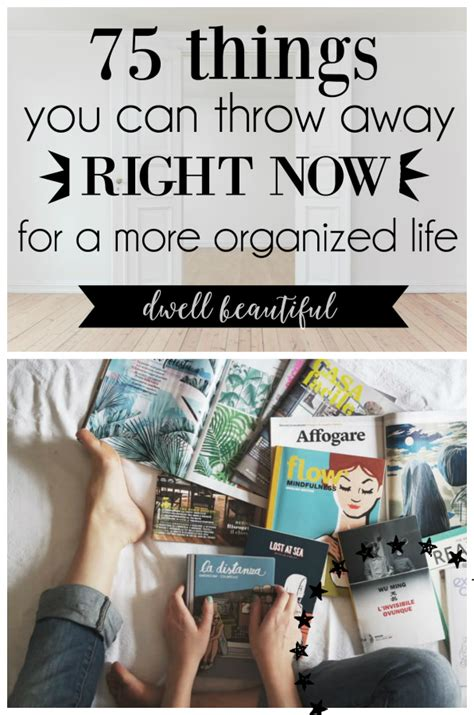 11 de cluttering tricks that make life so much easier a well shelf ideas and craft paint 75 things to throw away and declutter for a more organized