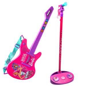 barbie rock royals guitar microphone toy kingdom