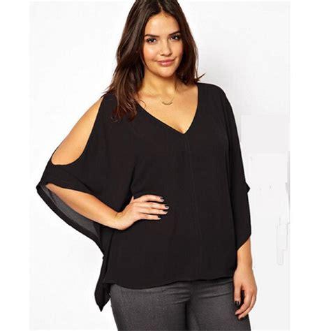 Plus Size Blouse high quality 2015 3xl 6xl plus size chiffon blouse shirt batwing sleeve ruffles