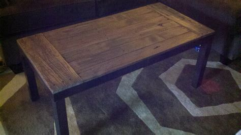 ikea lack coffee table hack recycled pallets and 2 ikea lacks made an awesome rustic
