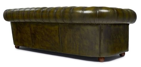 Green Leather Chesterfield Sofa Vintage Green Leather Chesterfield Sofa At 1stdibs
