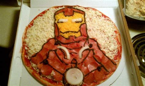 marvel pizza art