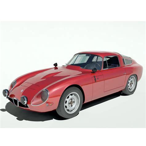Alfa Romeo Tz1 by 1963 Alfa Romeo Tz1 3d Model Max Cgtrader