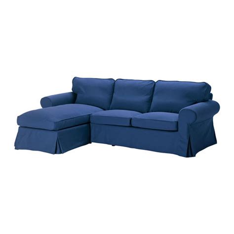 Lounge Chaise Sofa Ikea Ektorp Loveseat With Chaise Lounge Cover Slipcover Idemo Blue