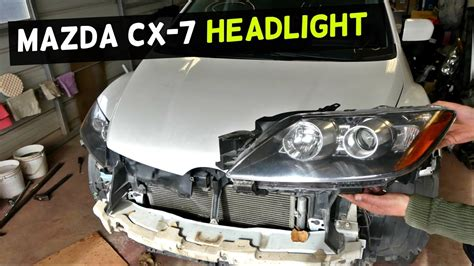 2007 mazda cx 7 light assembly mazda cx 7 headlight removal replacement headlight