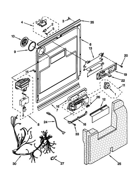 kenmore dishwasher parts diagram door and latch parts kenmore dishwasher wiring diagram