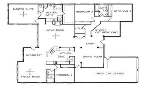Single Story Floor Plans With Open Floor Plan by One Story Floor Plans One Story Open Floor House Plans