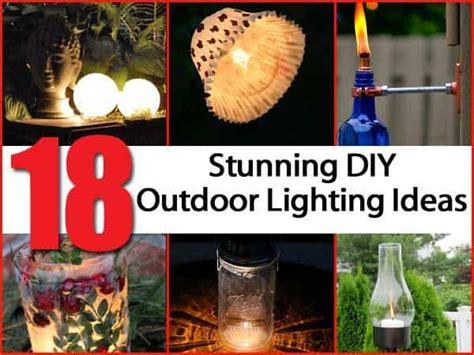 18 eye catching diy outdoor lighting ideas