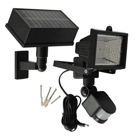 Solar Goes Green Solar Powered 50 Ft Range Black Motion Solar Powered Motion Lights Outdoor
