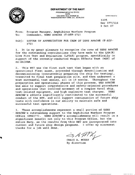letter of appreciation exles usmc navy letter of appreciation format gallery letter
