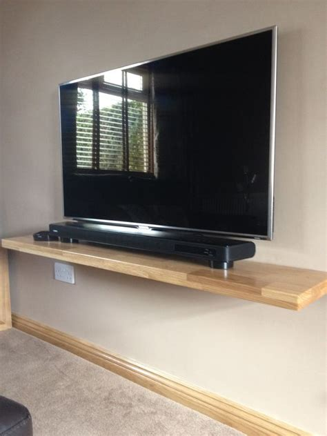 Flat Screen Tv Shelf by One Of Ours Solid Oak Floating Shelves Used To Support A