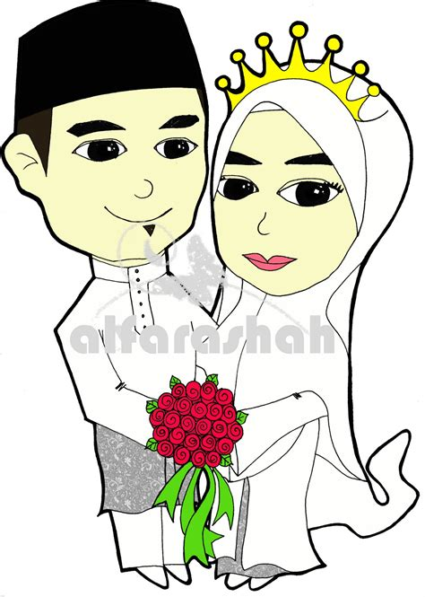 Animasi Wedding Muslim by Kartun Wedding Auto Design Tech