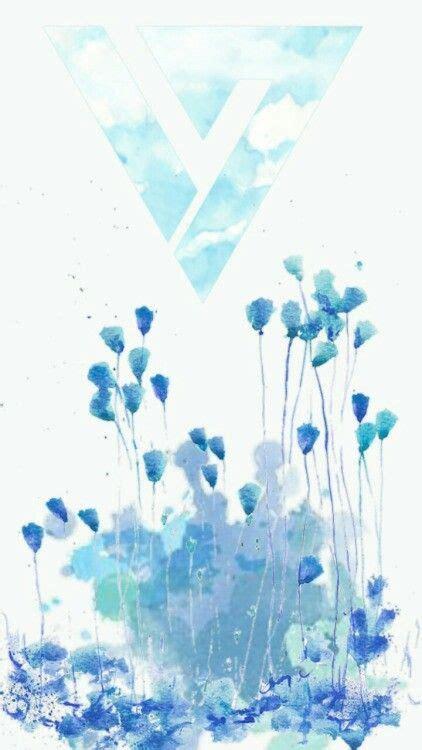 kpop theme phone seventeen logo theme blue seventeen pinterest logos