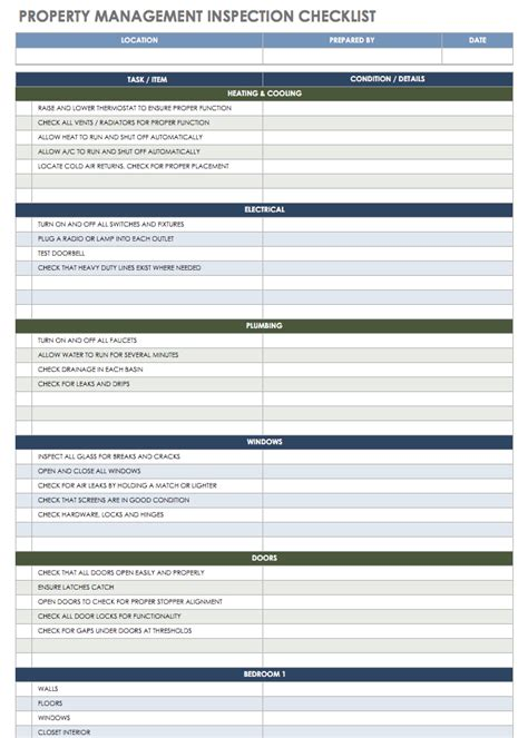 18 Free Property Management Templates Smartsheet Free Property Management Maintenance Checklist Template