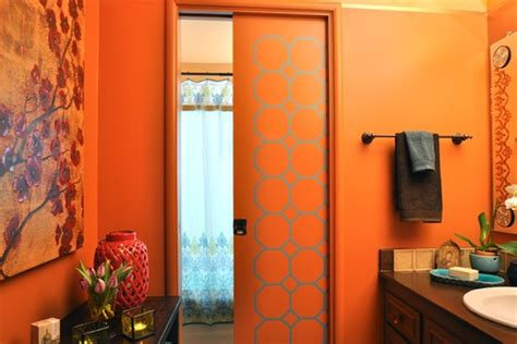 orange small bathroom ideas