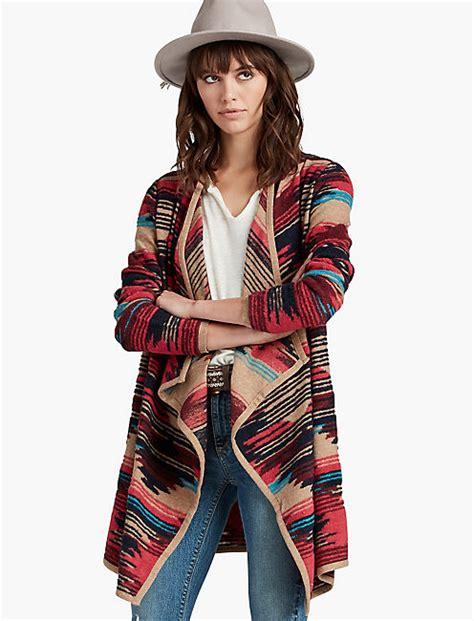 aztec drape cardigan aztec drape front sweater lucky brand