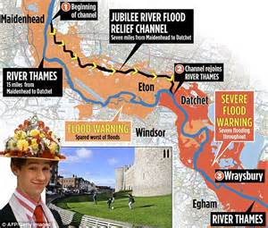 river thames scheme map wraysbury was drowned so the gin and jag set in windsor