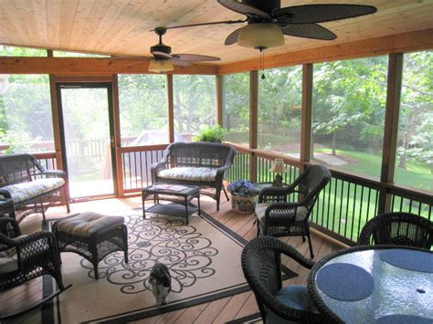 10 By 12 Screened Porch Including Concrete Patio Floor Estimate - screened porch interior designs in kansas city archadeck