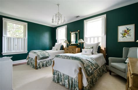 green and beige bedroom baroque dust ruffles vogue atlanta traditional bedroom