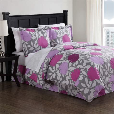 Floral Bedding Sets Purple Graphic Floral Comforter Set Rosenberryrooms