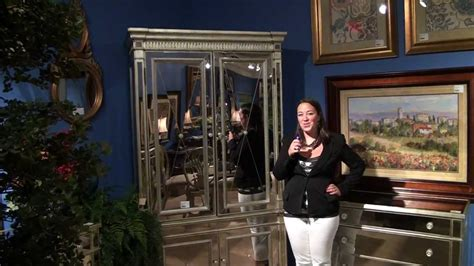 Borghese Mirrored Armoire by Borghese Mirrored Armoire By Bassett Mirror Company Home