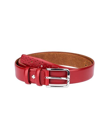 Perforated Belt perforated leather belt capopelle