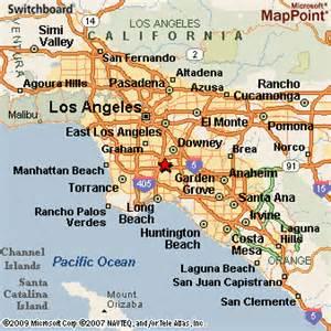 paramount california map paramount california