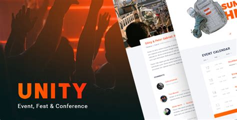 unity responsive layout unity event fest conference wordpress theme 183 theme pro