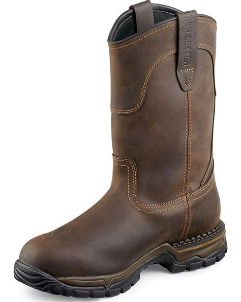 wing pull on work boots wing setter two harbors pull on work boots