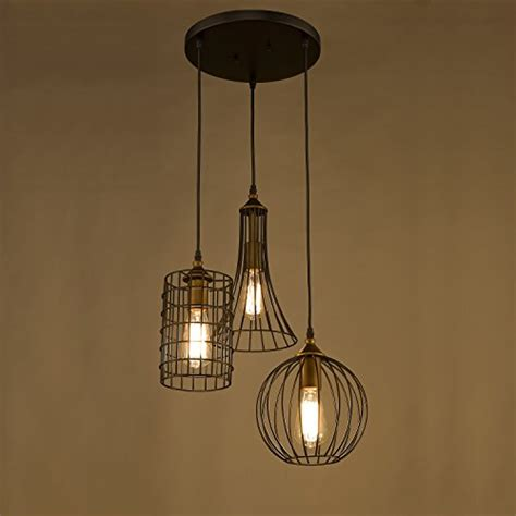 kitchen chandelier lighting yobo lighting antique 3 lights island chandelier wire cage