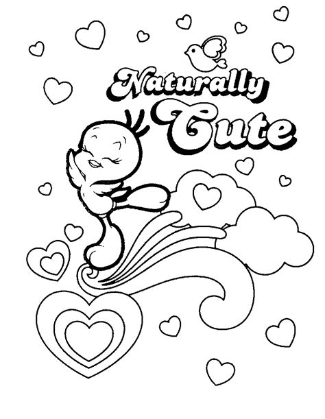 coloring page tweety bird free printable tweety bird coloring pages for kids