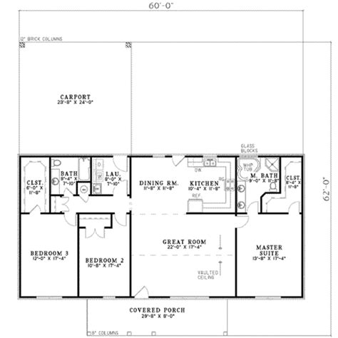 1800 Square Foot Floor Plans by Ranch Style House Plan 3 Beds 2 Baths 1800 Sq Ft Plan