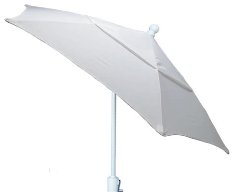 Patio Umbrella White Pole Terrace Tilt Umbrella 7 5 White Pole Contemporary Outdoor Umbrellas By