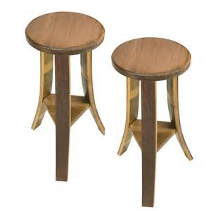 solid wood handcrafted wine barrel wood stools