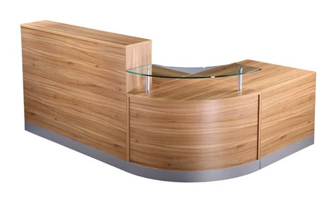 American Oak Reception Unit Office Furniture Solutions 4u Oak Reception Desk