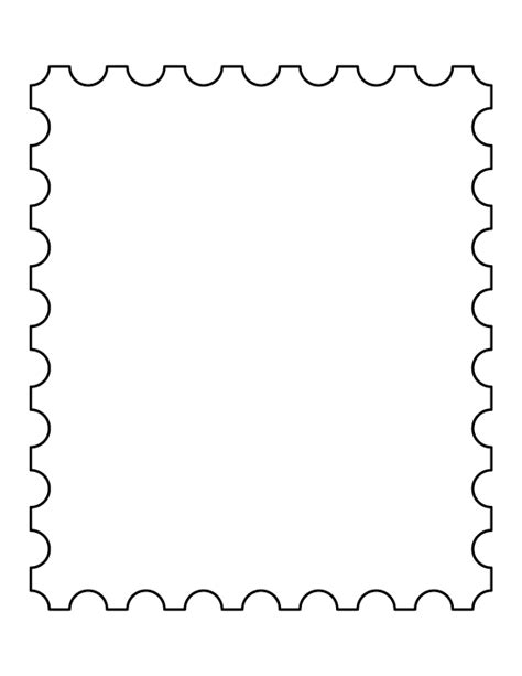 headshot border template postage st pattern use the printable outline for