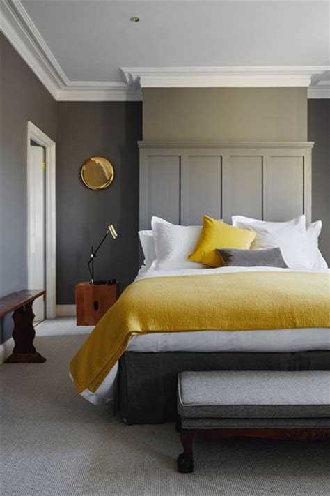 food in the bedroom ideas mustard textiles grey walls bedroom decoration ideas