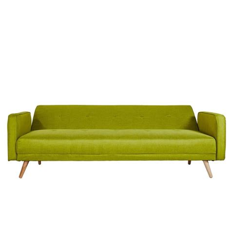 lime sofa bed milu 3 seater fabric sofa bed in lime green furniture123