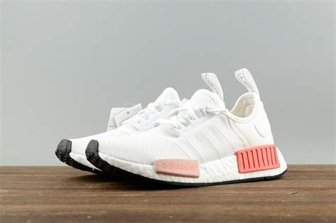 adidas nmd r1 white pink athletic shoes by9952 pubshoes