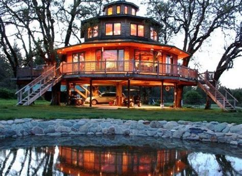 Octagon Cabin Plans 10 incredible tree house hotels in the u s huffpost