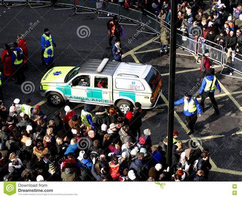 westminster new year parade 2016 uk 14 february 2016 ambulance aid car