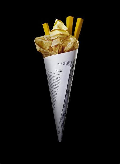 How To Make Paper Cones For Food - daniel carlsten direction design paper food