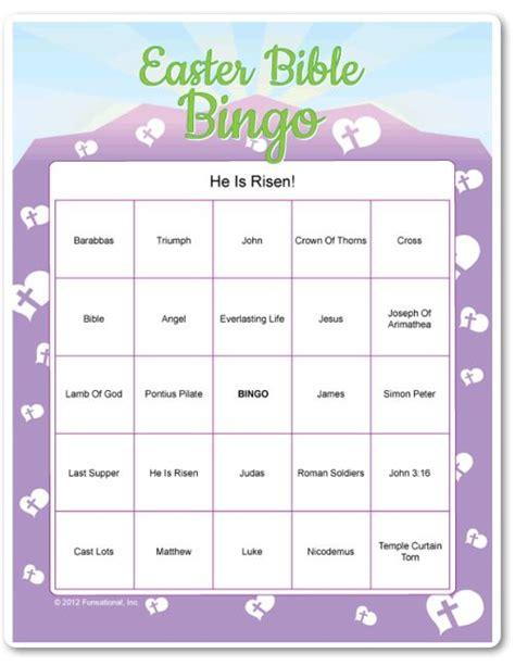 printable bible games for adults bingo easter and easter bingo on pinterest