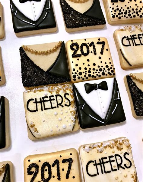 new year cookies 2017 new year s cookies tuxedo chagne 2017 cookies