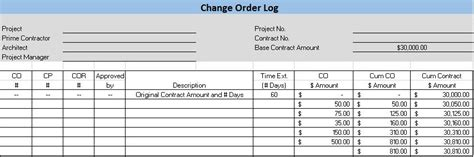 summary of material modifications template free construction project management templates in excel