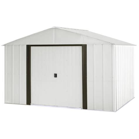 Shop Arrow Galvanized Steel Storage Shed (Common: 10 ft x 8 ft; Interior Dimensions: 9.85 ft x 7