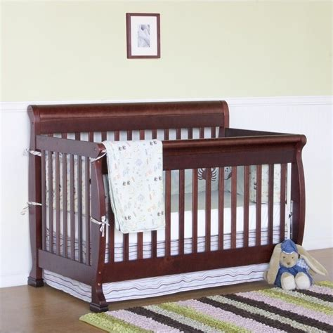 Bed Rails For Convertible Cribs Davinci Kalani 4 In 1 Convertible Crib With Bed Rails In Cherry M5501c M4799c Pkg