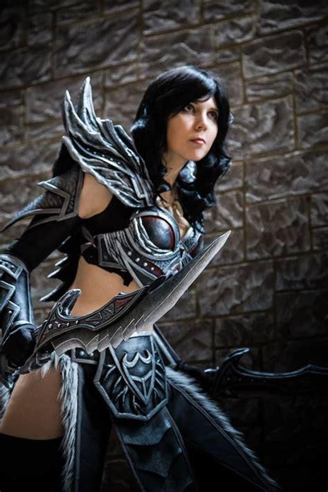 skyrim hot daedric armor kamui cosplay female daedric armor cosplay inspiration