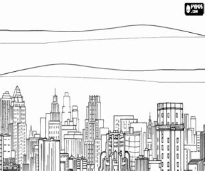 new york city skyline coloring pages coloring pages