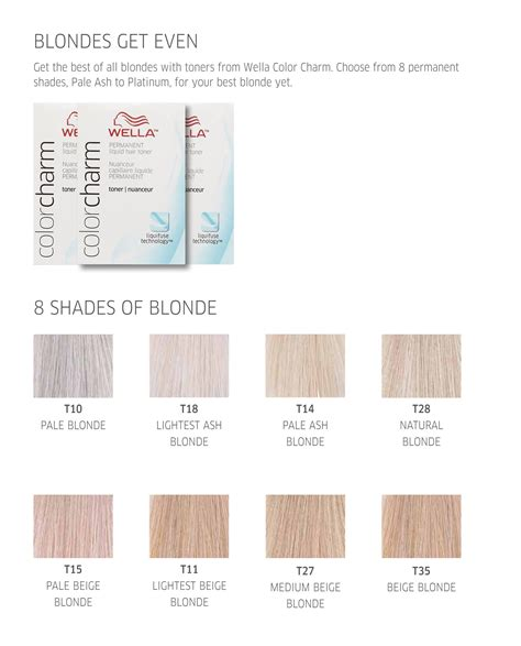 wella hair color chart wella color charm get even hair color